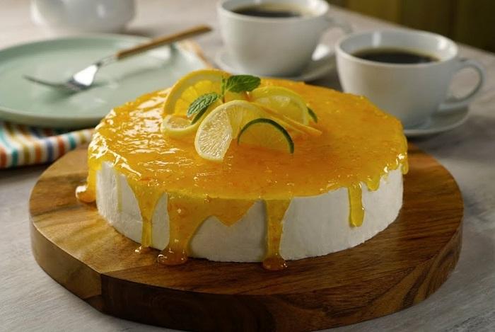 Receta de Cheesecake de Limón Naranjas y pomelo