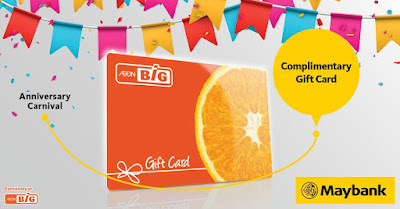AEON BiG Anniversary Sale Free Gift Card Maybank Card Promo