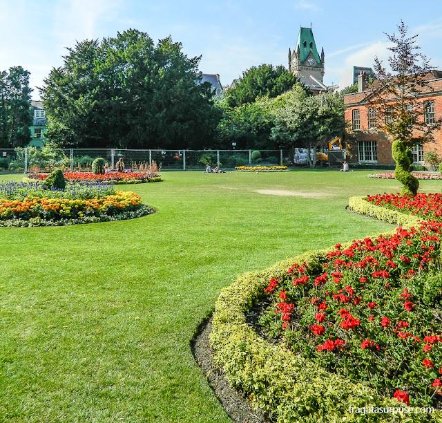 Jardins da Abbey House, Winchester, Inglaterra