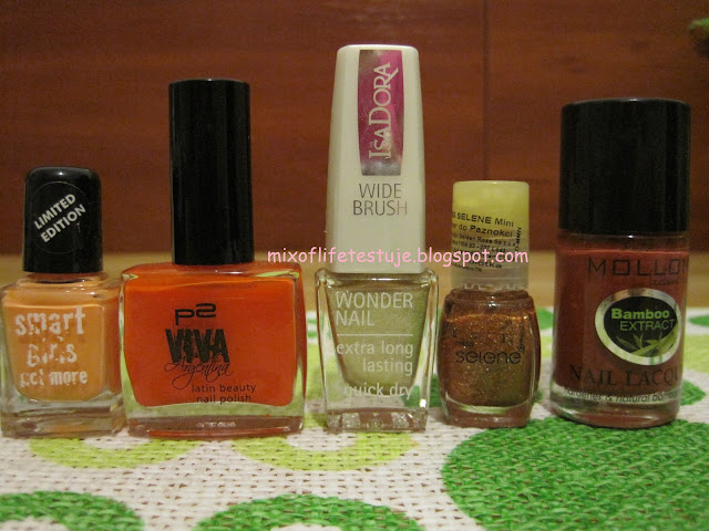 smart girls get more 48 ,p2 VIVA Argentina 010 muy guapa!,IsaDora 652 GOLD SPARKLES,miss selene 158,Mollon Cosmetics Warm Brown