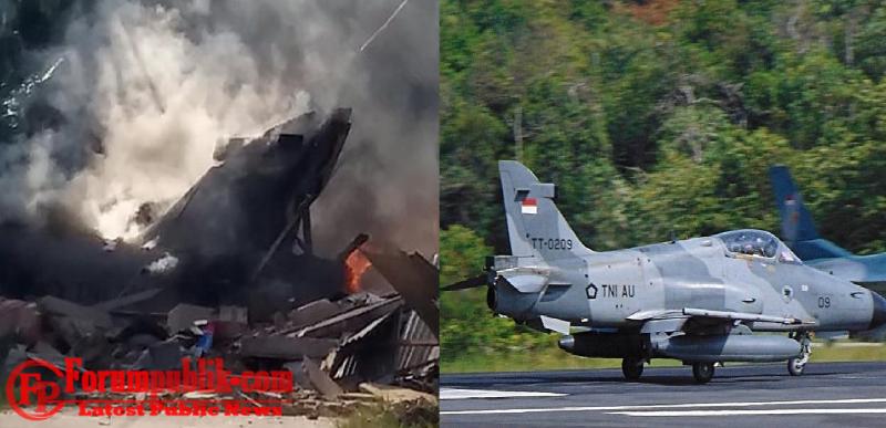 Pesawat Tempur Hawk 299 Milik TNI-Au Jatuh di Kampar, Permukiman Penduduk