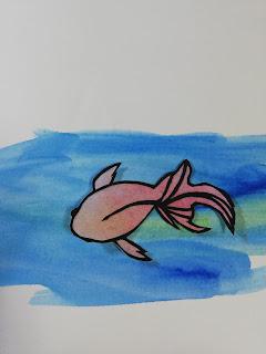 黒紙×パステルで塗った紙の切り絵(濃い背景)