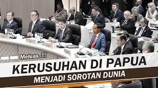 Mencekamnya Papua Jadi Sorotan Dunia