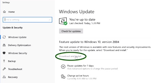 Windows Update Windows 10 20H1