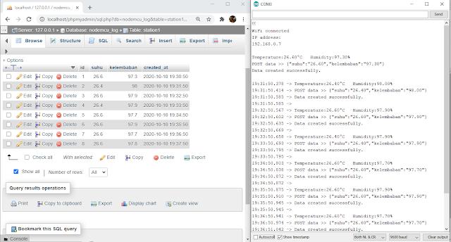 nodemcu POST JSON data mysql
