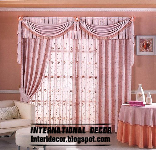Best Curtain Models 2013, Unique Draperies Model, Stylish Pink Curtain