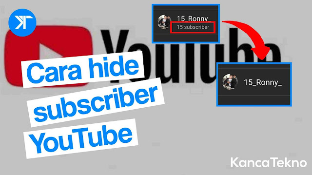 Cara menyembunyikan atau menampilkan jumlah subscriber youtube