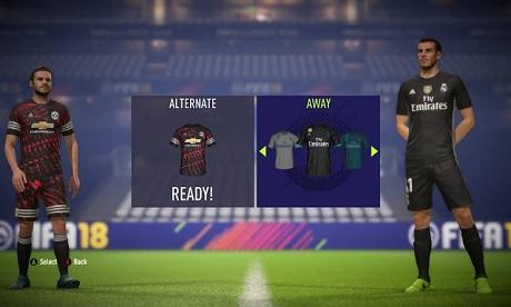 طقم مانشيستر يونايتد الرابع للموسم الجديد 2018 لفيفا 18