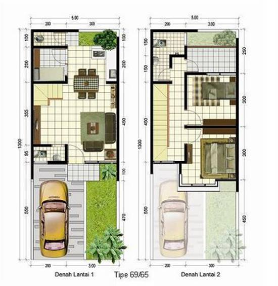 denah rumah minimalis 2016