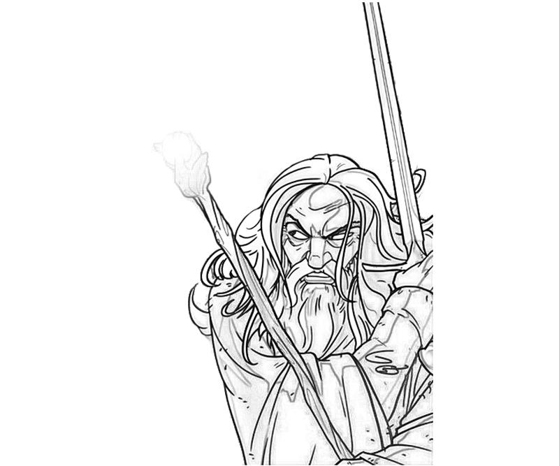 gandalf the gray coloring pages - photo#15