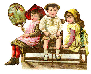 clipart children digital victorian images playing illustration