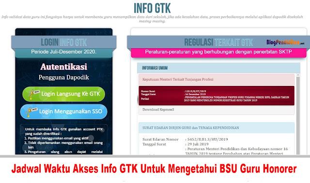 Jadwal Waktu Akses Info GTK Untuk Mengetahui BSU Guru Honorer