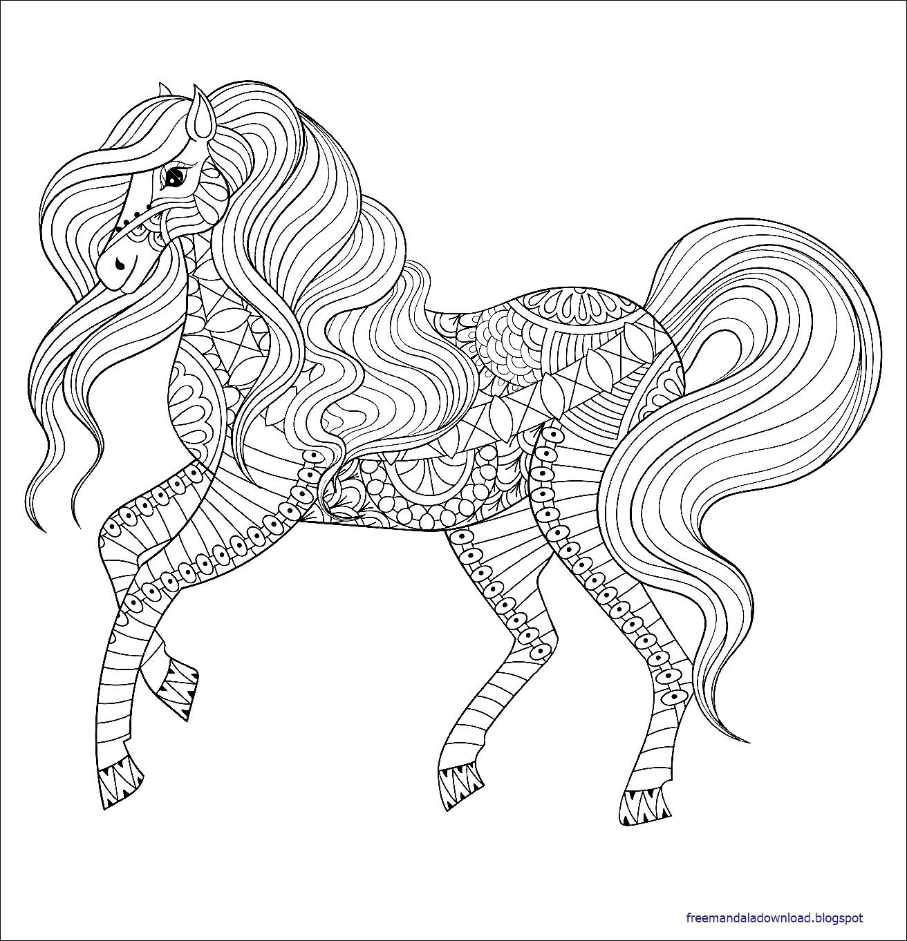 35 Ausmalbild Mandala Pferd Besten