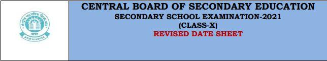 cbse board 10th date sheet 2021 Download
