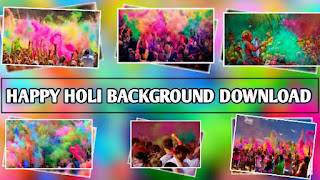 Happy Holi Editing Background Download