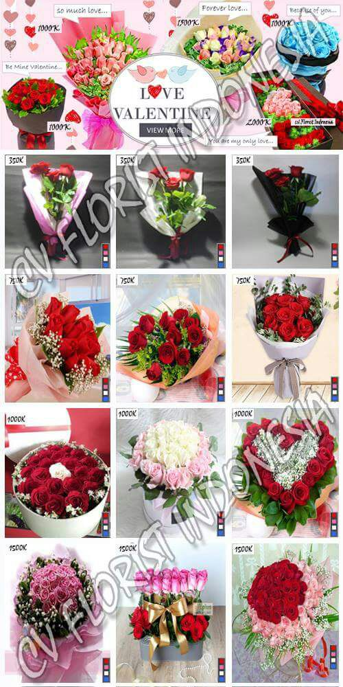 Buket Bunga Mawar Valentine Tangerang