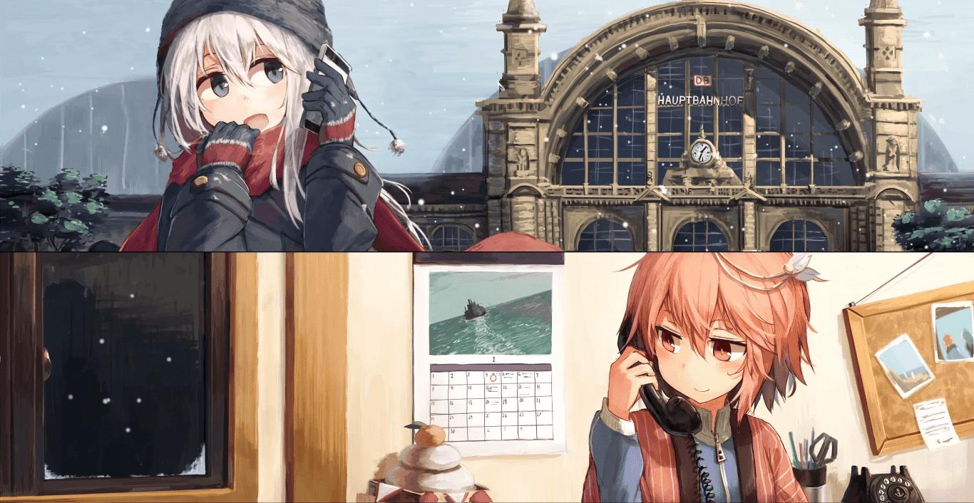 Kancolle U-511&I-58 2K 30fps [Wallpaper Engine Anime]