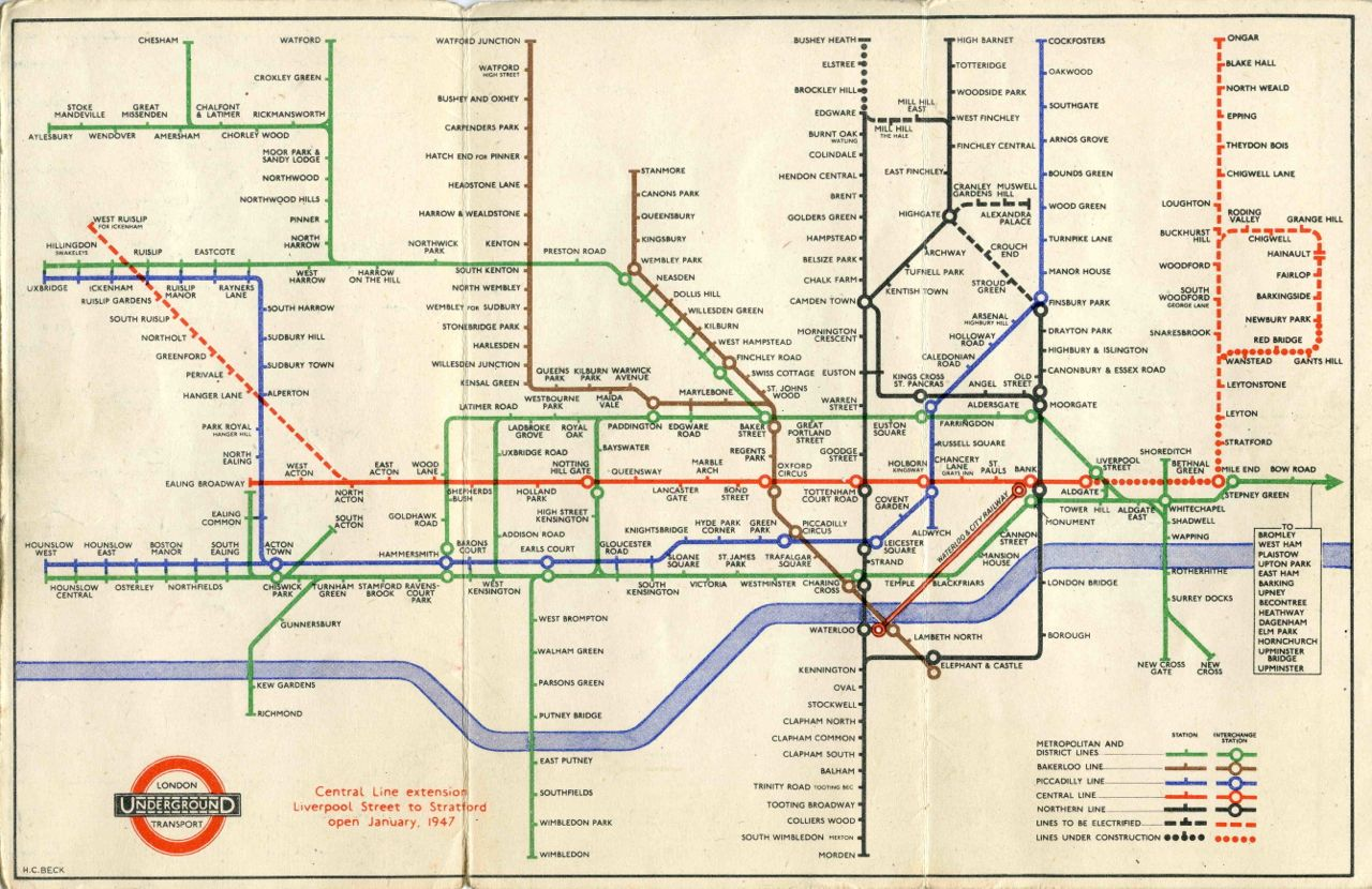 Harry Beck's Simplified Map