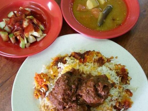 nasi briyani haji tamby, 5 menu makanan malaysia, nasi briyani sedap melaka