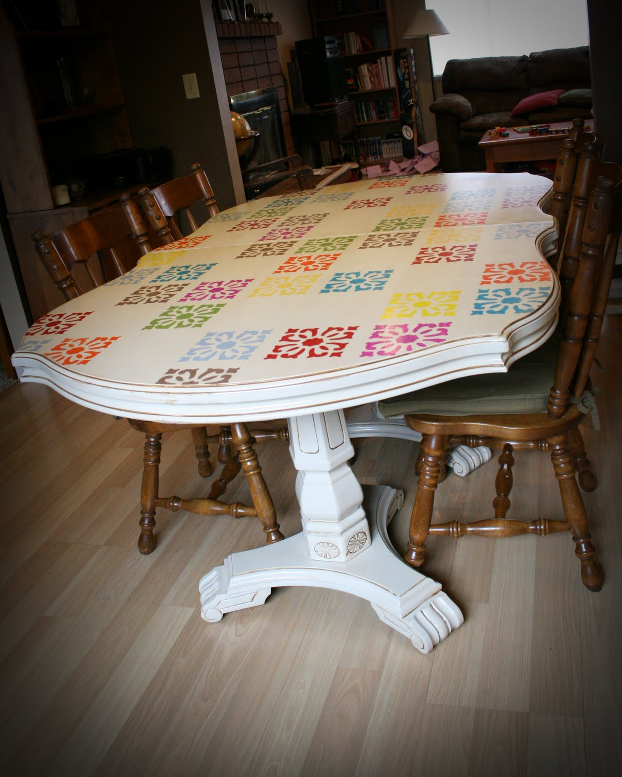 Check Out Her Ultra Unique Kitchen Table Fun Colorful