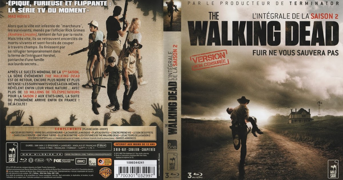 blu ray jaquettes blu ray the walking dead saison 2. Black Bedroom Furniture Sets. Home Design Ideas