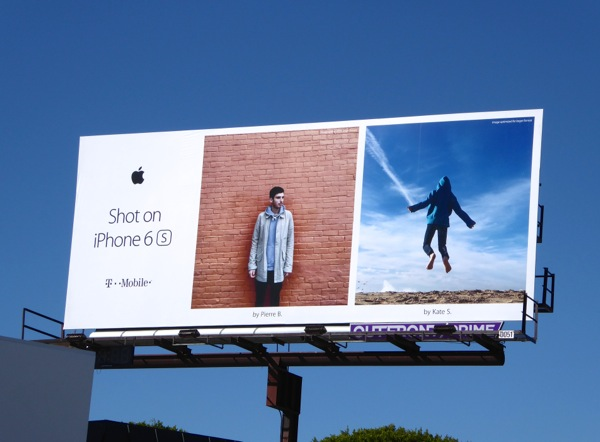 Shot on iPhone 6s Pierre B Kate S billboard