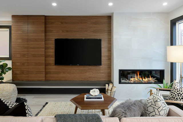 Toronto Modern TV Fireplace