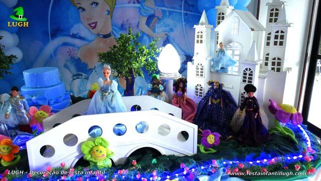 Decoração festa Cinderela - mesa luxo