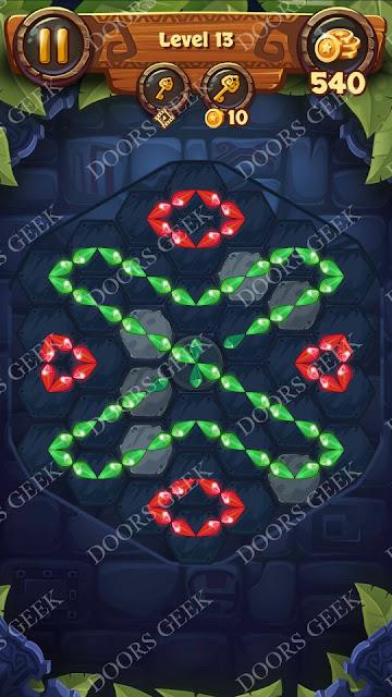 Gems & Magic [Tourmaline] Level 13 Solution, Walkthrough, Cheats