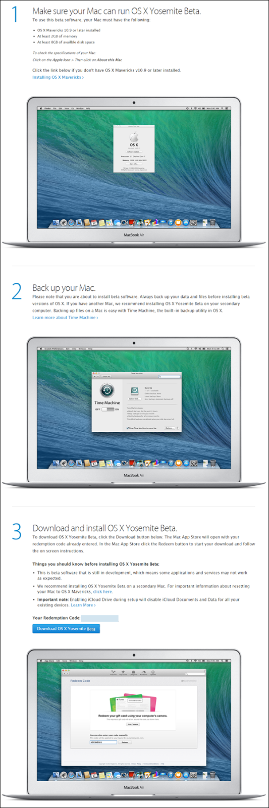 Apple Mac OS X (10.10) Yosemite Beta 1 (step 5)