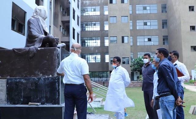 मुख्यमंत्री  भूपेश बघेल 2 अक्टूबर को करेंगे मंत्रालय परिसर में गांधी प्रतिमा का अनावरण