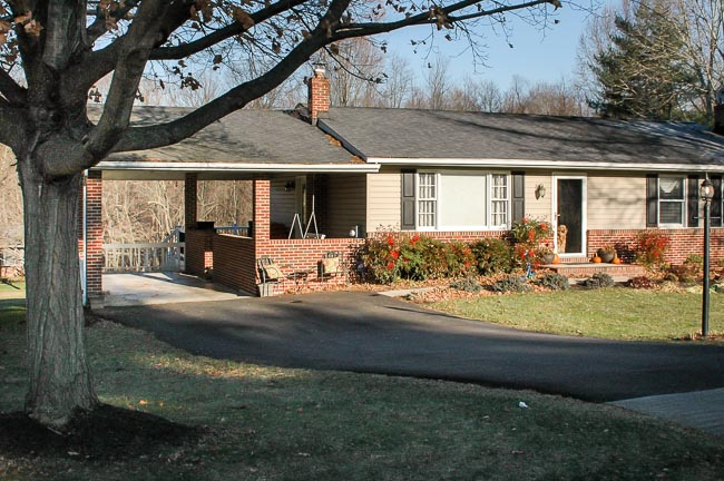 Small ranch style house before