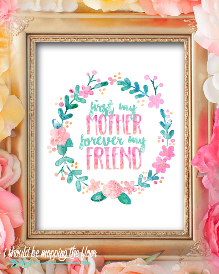 These beautiful watercolor Mother's Day Printables are perfect for gifting or decorating. Beautiful 8x10 prints sure to bring a smile to any mom's face!