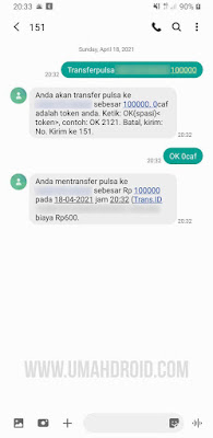 Proses Transfer Pulsa Indosat ke Indosat