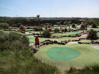 Breakers Miniature Golf course in St Ouens Bay, Jersey