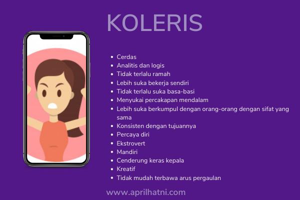 ciri tipe karakter koleris