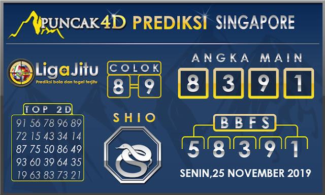 PREDIKSI TOGEL SINGAPORE PUNCAK4D 25 NOVEMBER2019