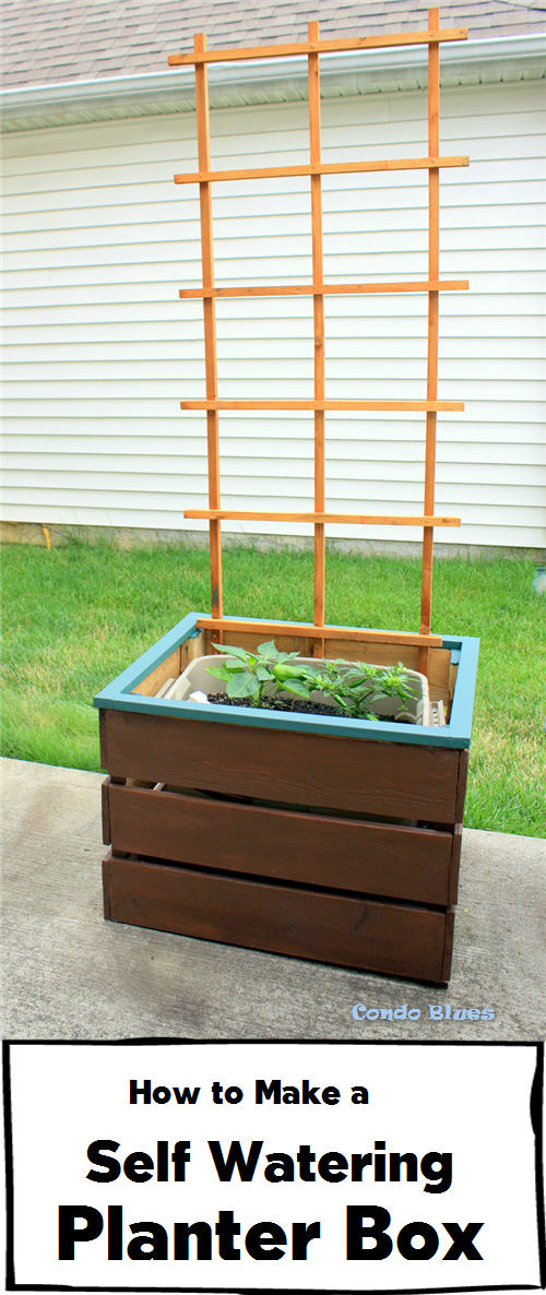 condo blues how to make a self watering planter box. Black Bedroom Furniture Sets. Home Design Ideas