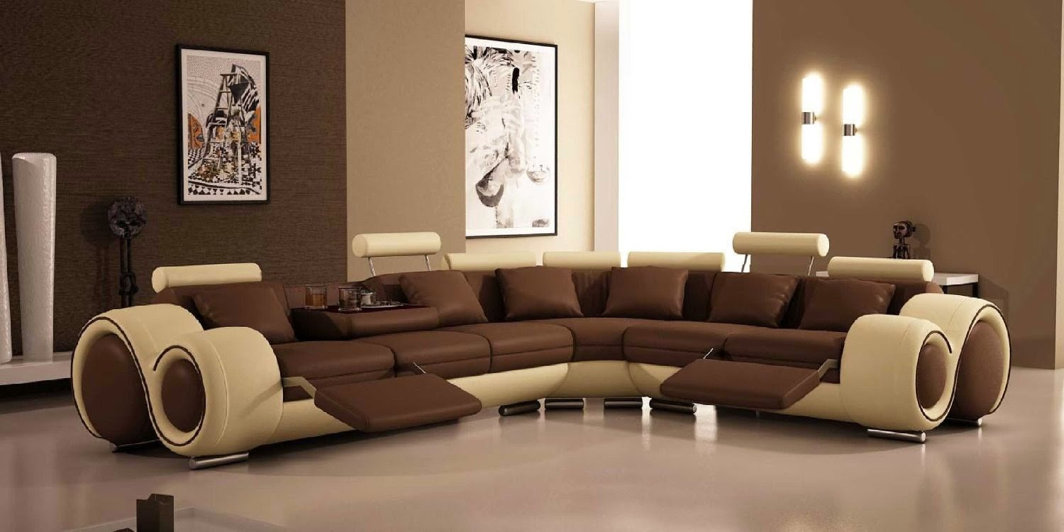 Superb Modern Reclining Sofa Furniture With Recliners