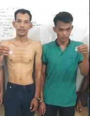 Kedua tersangka narkoba di Batubara
