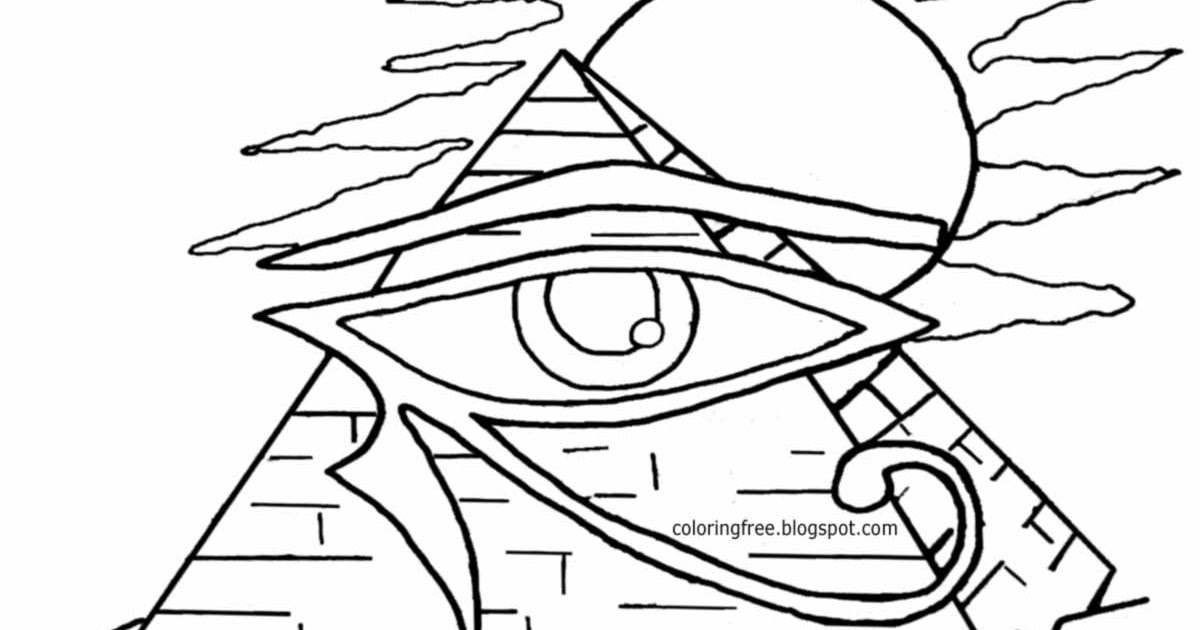 Printable Egyptian Drawing Egypt Coloring In Pages For Teenagers