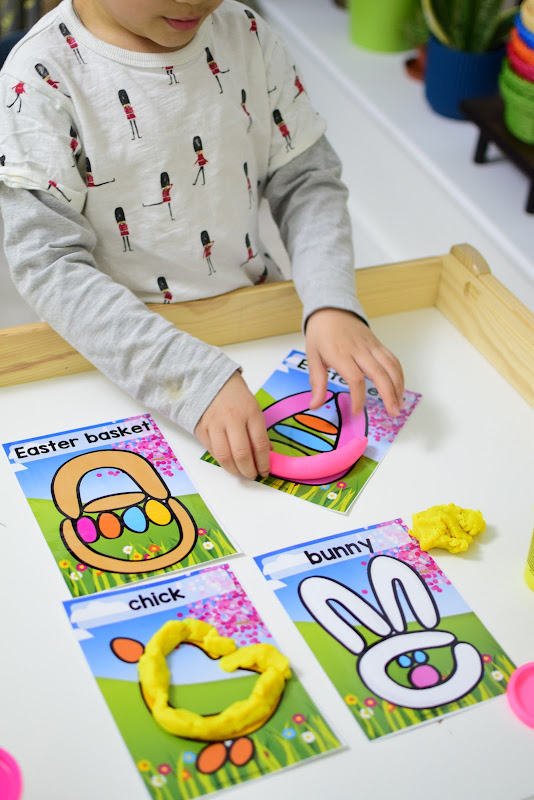 Easter Theme Unit: Easter Playdough Picture Mats