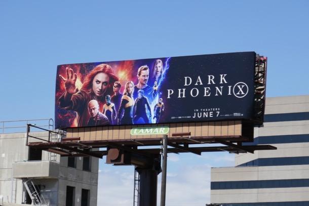 Dark Phoenix movie billboard