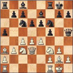 Partida de ajedrez Salvador Vila Sala - Joan Segura Vila, posición después de 11.e4??