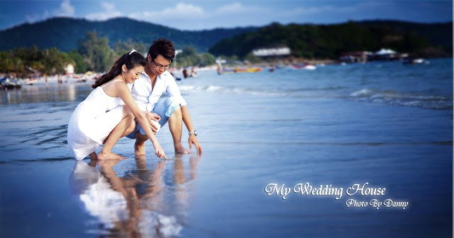 beach pre wedding image