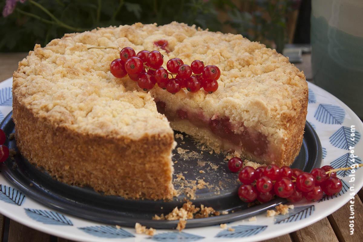Wos Zum Essn Johannisbeer Streuselkuchen Mit Puddingfullung