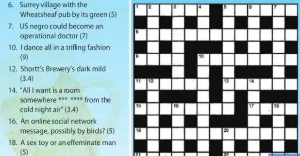 Is the BBC biased?: Crossword clues