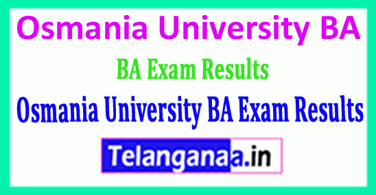 Osmania University BA Exam Results Download