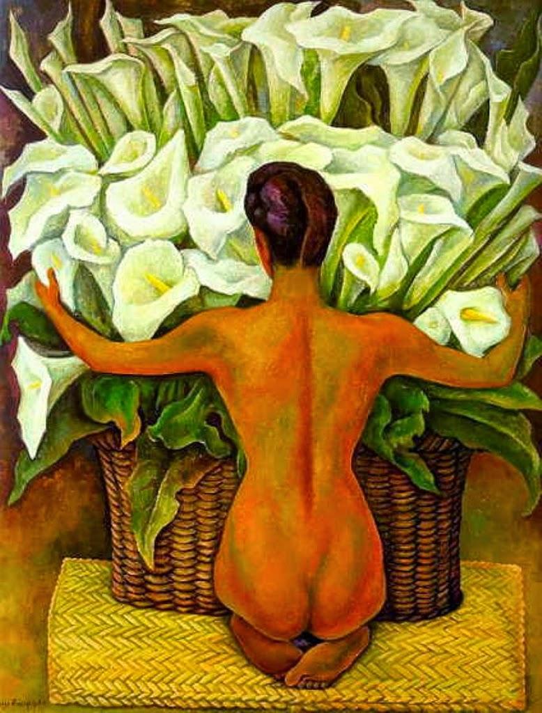 Nudez com Copo de Leite - Diego Rivera e suas principais pinturas ~ Muralismo mexicano