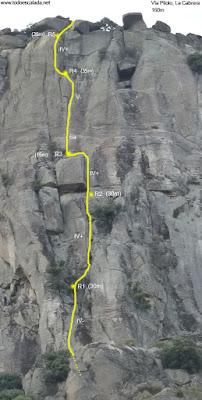 Vía Piloto, Pico de la Miel, La Cabrera
